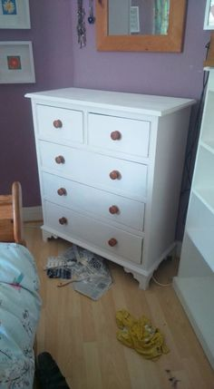 Up cycled painted drawers