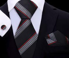 Mamba Tie Set XL TwentyDollarTie - High Quality Silk Ties and Bow Ties Kids Ties, Paisley Tie, Nyc, Mens Attire, Wedding Ties, Tie Set, Red Silk, Pocket Square, Mens Xl