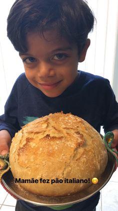 Um Pão Italiano divino (e super fácil de fazer!)   Casa da Ju No Salt Recipes, Bread Recipes, My Recipes, Cake Recipes, Cooking Recipes, Favorite Recipes, Rice Custard, Polenta, Bruschetta