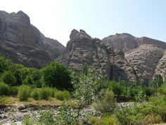 Red canyons in Alamut valley