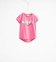 プリント入りTシャツ-すべてを見る-Tシャツ-ガール (4歳-14歳)-キッズ | ZARA 日本