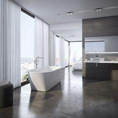 Freedom R bathtub Beautiful Bathrooms, Home Deco, Minimalism, Interior Design, Freedom, Bathtubs, Simply Beautiful, Bathing, Polish
