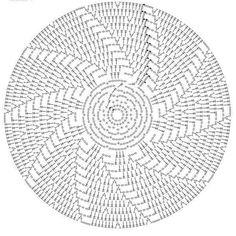 Crochet Doily Diagram, Crochet Doily Patterns, Crochet Mandala, Crochet Motif, Crochet Designs, Crochet Doilies, Free Crochet, Crochet Pincushion, Crochet Cushions