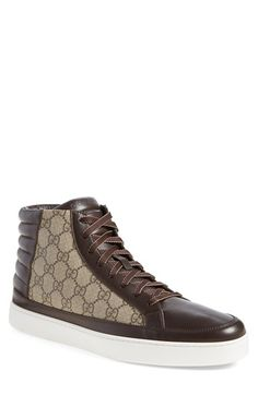 Gucci 'Common' High-Top Sneaker (Men) available at #Nordstrom
