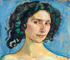 Hodler, Ferdinand : Head study of an Italian w...