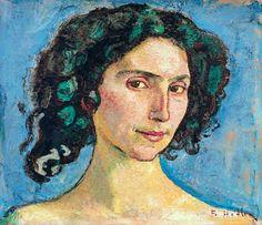 Hodler, Ferdinand : Head study of an Italian w...