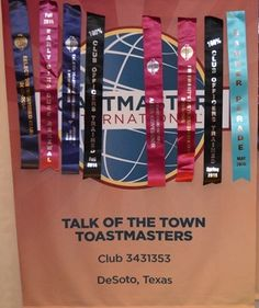 Talk of the Town Toastmasters- club 3431353 located in DeSoto, Texas U.S.A. Thank you to Manhal Shukayr for the banner picture.