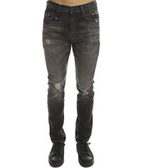 R13 Skate Jean R13 ($485) ❤ liked on Polyvore featuring men's fashion, men's clothing, men's jeans, designers, home, men's, r13, mens ripped skinny jeans, mens skinny jeans and mens distressed jeans