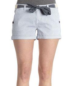 Look at this WallFlower Jeans Mazarine Blue Stripe Denim Shorts on #zulily today!