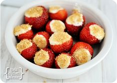 Cheesecake Stuffed Strawberries from Mel's Kitchen Cafe