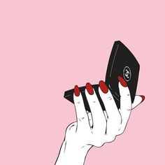Trendy Makeup Brushes Illustration Make Up Makeup Wallpapers, Cute Wallpapers, Pink Wallpaper, Iphone Wallpaper, Illustrations, Illustration Art, Arte Dope, Moon Spells, Hand Art