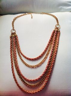 Coral pink and gold