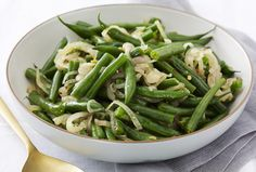 Green Bean and Three Onion Saute - looks really good without the fried and breaded onions and look no cream soup!!!