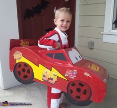 Brittney: This cute Lightning McQueen is our son, Dawson. He so badly wanted to be Lightning McQueen for Halloween but they only had race car driver costumes for that. My husband...