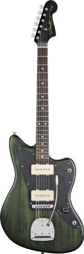 Fender Thurston Moore Jazzmaster Electric Guitar, Rosewood Fingerboard - Forest Green Transparent
