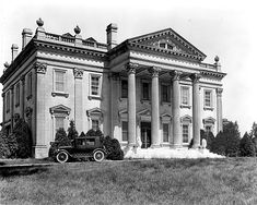 Green Hills, James B. Haggin's 1902 mansion at his Elmendorf Farm in Lexington, Kentucky. Razed just a few years later by Joseph E. Widener. Today only the famous pillars remain, visible if you know where to look as you drive north on Paris Pike.