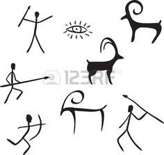 Illustration about Vector primitive figures looks like cave painting illustration. Illustration of ancient, history, ornament - 19583062 Illustration Vector, Vector Art, Art Pariétal, Cave Drawings, Native American Symbols, Art Premier, Gourd Art, Aboriginal Art, Art Plastique