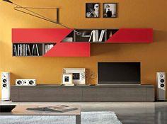 Modern Wall Unit 3D L by Artigian Mobili Italy - $3,085.00