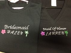 Shirts I hand made for my daughters for being in my wedding