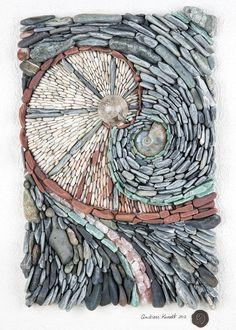 Rebirth - Natural stone mosaic.More Pins Like This At FOSTERGINGER @ Pinterest