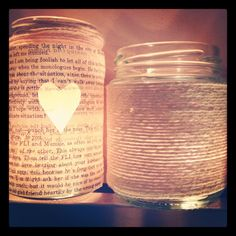 Homemade candle holders
