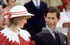 1983--Diana Princess of Wales and Prince Charlesduring the Royal Tour of Canada on June 29, 1983 in Edmonton, Alberta, Canada.