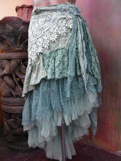 wedding skirttattered skirt mori girl stevie nicks by wildskin
