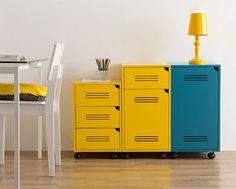 Gaveteiro Molin Amarelo - 1 Gaveta # Oppa http://www.oppa.com.br/moveis/gaveteiros/gaveteiro-molin-amarelo-1-gaveta