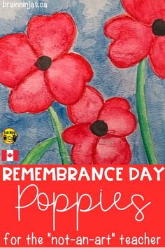 Remembrance Day Activities, Remembrance Day Poppy, Fall Art Projects, School Art Projects, 3rd Grade Art, Grade 2, Elementary Art, Upper Elementary, Autumn Art