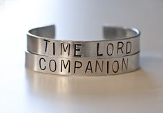 Doctor Who Inspired Cuff Bracelet Set Time Lord by kaieldesigns, $20.00