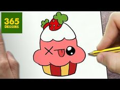 COMMENT DESSINER CUPCAKE KAWAII ÉTAPE PAR ÉTAPE – Dessins kawaii facile - YouTube