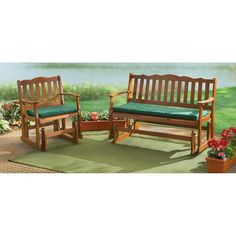 Comfort choice: Hardwood Patio Glider or Bench Glider