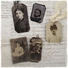 faux tintype tags