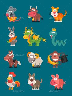 Files, Packed in Zip: File CC. Vector illustration does not contain gradients and styles, all paths are closed. Snoopy Cartoon, Cartoon Art, Anime Animals, Cute Animals, Character Flat Design, Kid Friendly Art, Doodle Icon, Princess Cartoon, Chinese Zodiac Signs