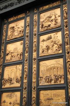 "The doors to Florence's Baptistry.  Called by Michelangelo, ""The Gates of Paradise"".  Definitely worth reading and learning more about.  Click on the link."