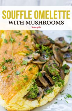 There are few dishes quite like this Soufflè Omelette with Mushrooms. It's healthy, full of nutrient-dense ingredients, and it tastes incredibly rich. You'll feel like you're having a cheat day without actually having to take one! Heart Healthy Recipes, Skinny Recipes, Healthy Breakfast Recipes, Clean Eating Recipes, Vegetarian Recipes, Healthy Eating, Breakfast Dishes, Healthy Meals, Easy Cooking