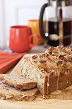 Cream Cheese-Banana-Nut Bread - Lighten Up! Southern Classics - Southernliving. Enjoy banana bread without all the guilt with this healthy banana bread recipe. For more recipes like this, see our Quick Bread Recipes.  Recipe:Cream Cheese-Banana-Nut Bread