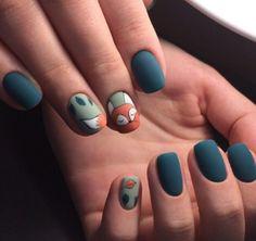 120 Best of the Best for fantasy Nail Design - Beauty - Nails Autumn Nails, Spring Nails, Nails Design Autumn, Fox Nails, Korean Nail Art, Korean Nails, Animal Nail Art, Gel Nagel Design, Nagellack Trends