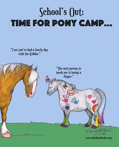 It's officially time to thrill all the youngest equestrians by tormenting all the most tolerant of equids (and some of the less tolerant too). ;)