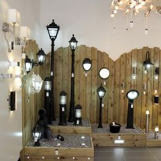 Yess Bathroom Lights lighting showroom close up on crates | ff showroom | pinterest