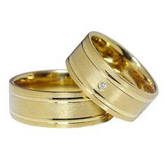 Verighete ATC47 aur galben Wedding Day, Wedding Rings, Rings For Men, Engagement Rings, Jewelry, Women, Jewels, Couple Rings, Crystal