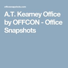 A.T. Kearney Office by OFFCON - Office Snapshots Oval Table, Design
