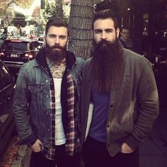Ok.. I seriously want to run my fingers through the guys beard on the right, it looks so soft!