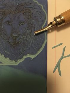 Sarah J. Loecker : Lion stamp step by step process- step by step process in making my lion stamp out of a carving block and linoleum cutting tools. Lion Illustration, Instagram Fashion, Instagram Posts, Sarah J, Art Tutorials, Casual Dresses For Women, Printmaking, Carving, Lino Cuts