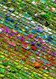 Isometric pixel art #cars