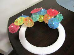 Luau wreath - DIY