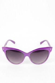 Metallica Sunglasses in Purple $8 at www.tobi.com