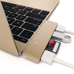 Satechi® Type-C USB 3.1 OTG 3 in 1 Combo Hub (Gold)