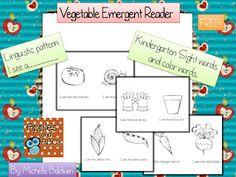 Free Vegetable Emergent Reader