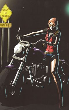 Claire Redfield from the Darkside Chronicles Official Artbook.